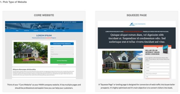Pick-Website-Type
